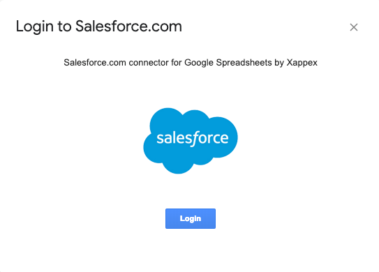 Logging in to Salesforce com from G-Connector – Xappex