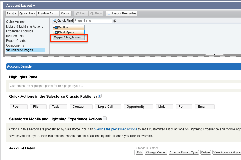 Adding XL-Connector component to Salesforce Classic page