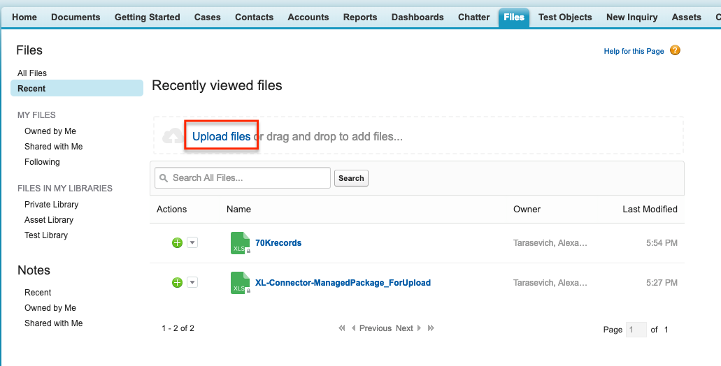 Uploading an XL-Connector template to Salesforce – Xappex